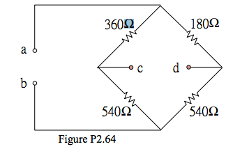 In the circuit of Figure P2.64, find the equivalen
