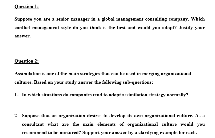 Solved Question L Suppose You Are A Senior Manager In A