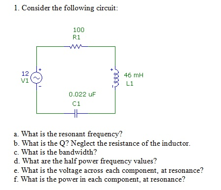 Consider the following circuit: What is the reson