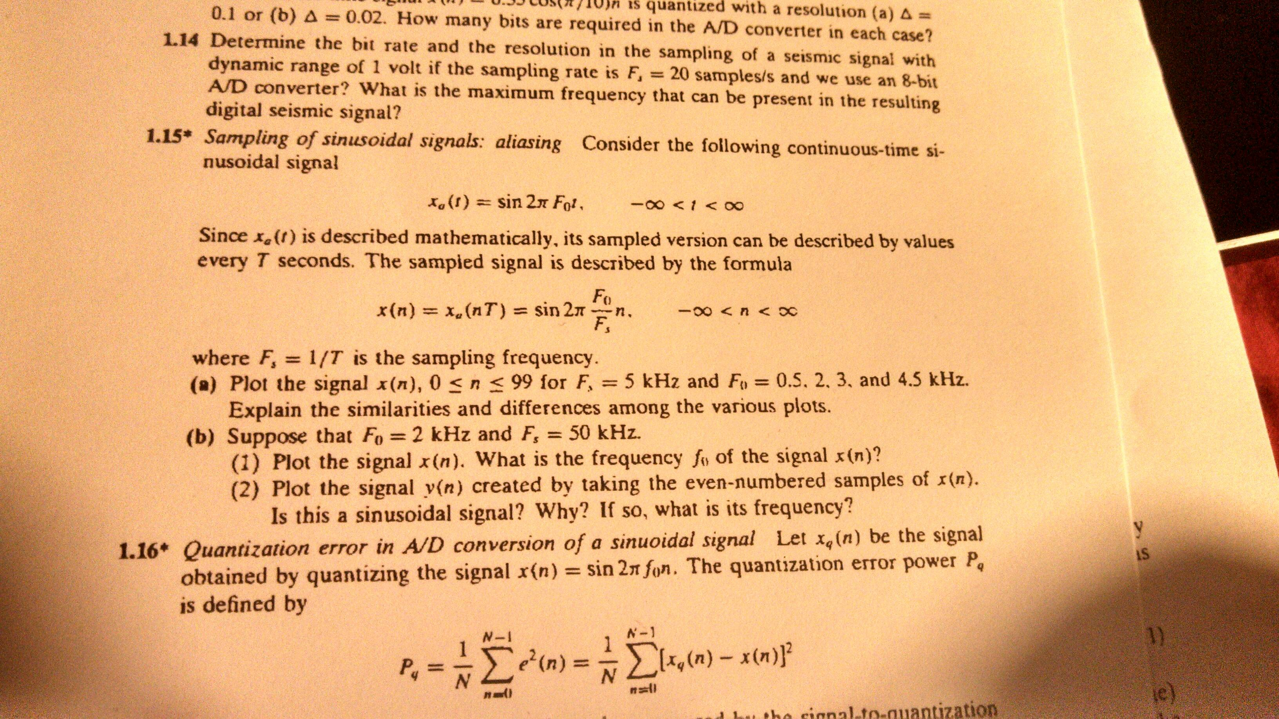 Determine the bit rate and the resolution in the s