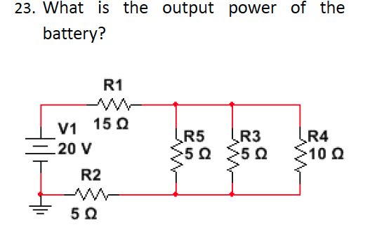 What is the output power of the battery?