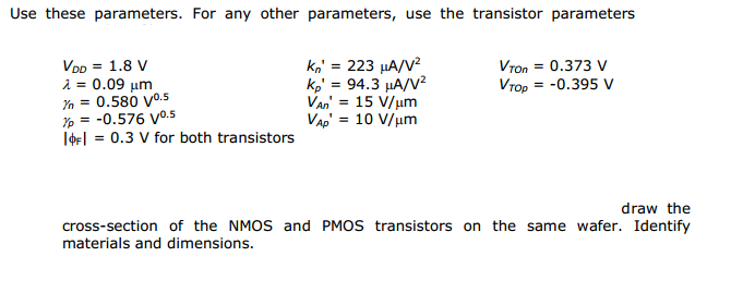 Use these parameters. For any other parameters, us