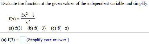 Evaluate The Function At The Given Values Of The I... | Chegg.com