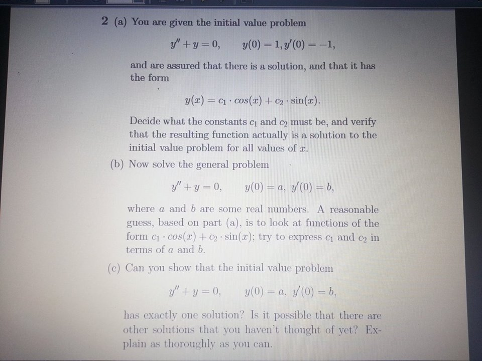 You are given the initial value problem y