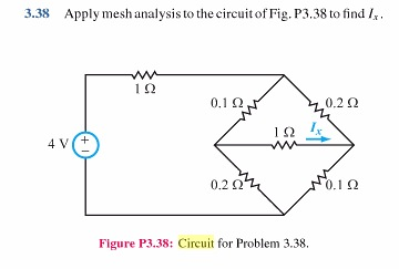 Apply mesh analysis 10 the circuit of Fig. P3.38to