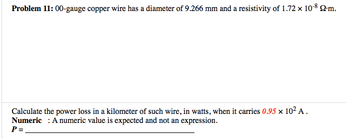 Solved 00 gauge copper wire has a diameter of 9266 mm an problem 1100 gauge copper wire has a diameter of 9266 mm and a greentooth Image collections