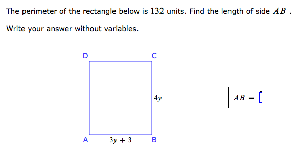 The perimeter of the rectangle below is 132 units chegg image for the perimeter of the rectangle below is 132 units find the length of ccuart Gallery