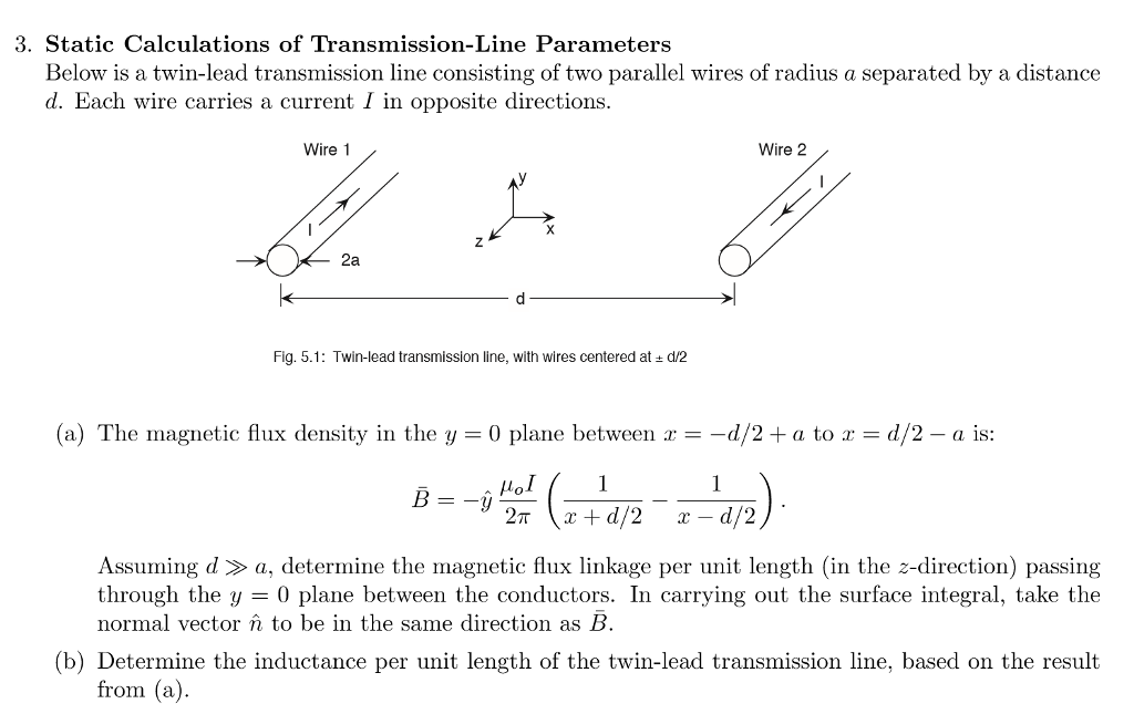 Solved: 3. Static Calculations Of Transmission-Line Parame ...