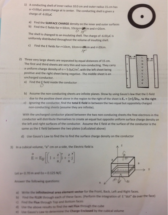 Find The SURFACE CHARGE Density On The Inner And O ...