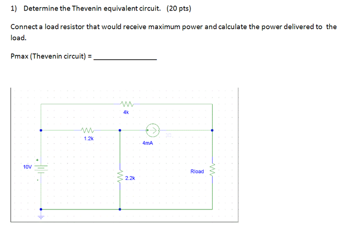 Determine the Thevenin equivalent circuit. Connect