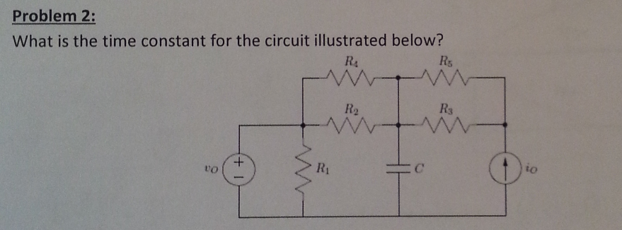 What is the time constant for the circuit illustra