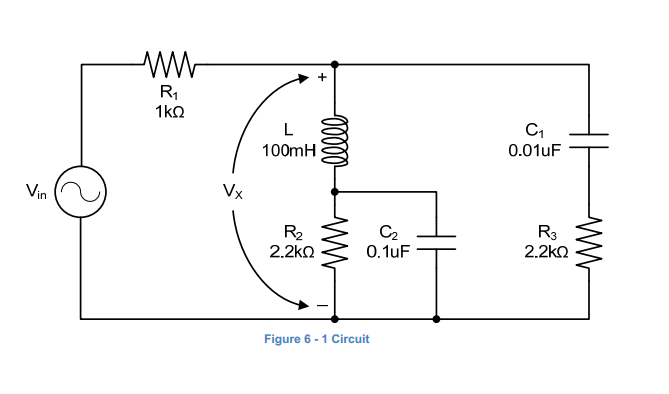 Consider the circuit in Figure 6 -1 with Vm magnit