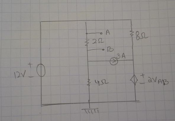 For Both question :Find Vab 1) using Node Met