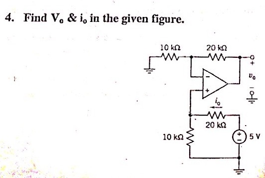 Find V0 & i0 in the given figure.