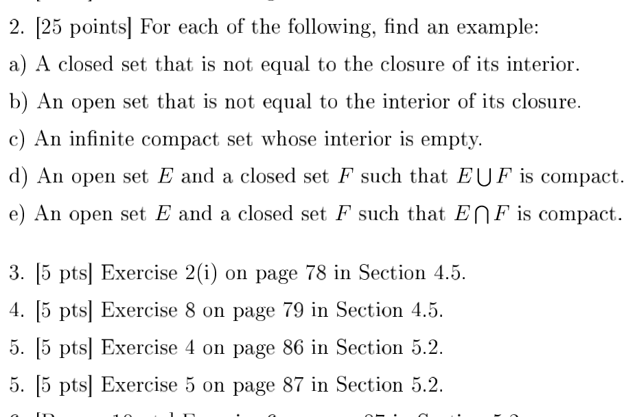 Solved: For Each Of The Following, Find An Example: A) A C ...