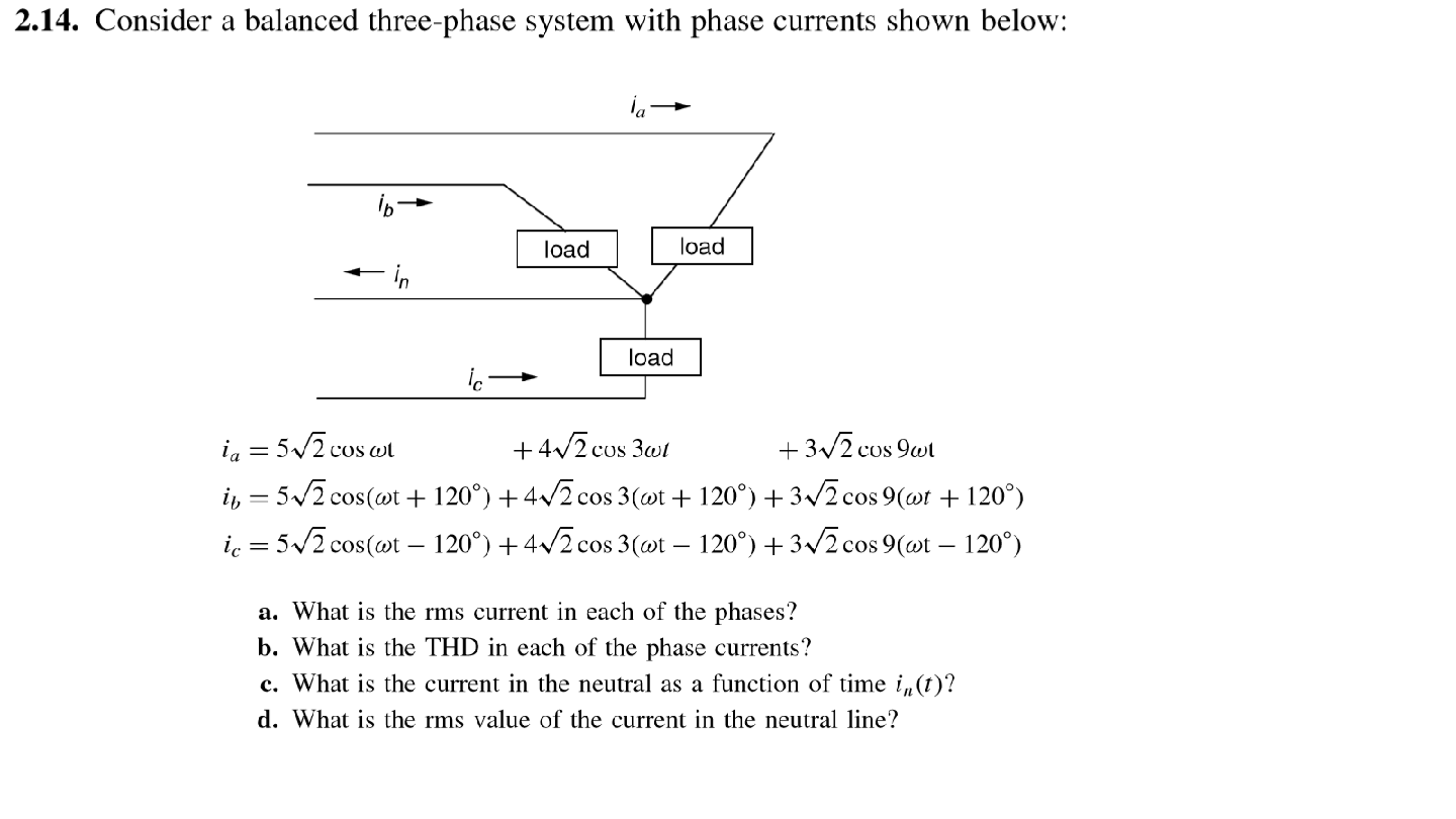 Consider a balanced three-phase system with phase