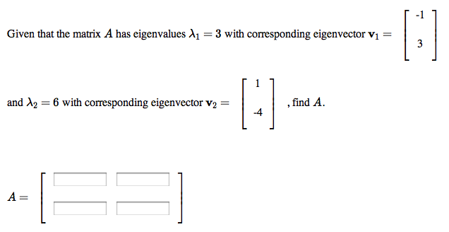 how to get eigenvector matrix
