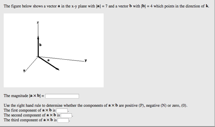 The figure below shows a vector a in the x-y plane