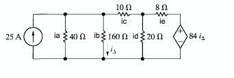 In the following circuit: a) Use the node-voltag