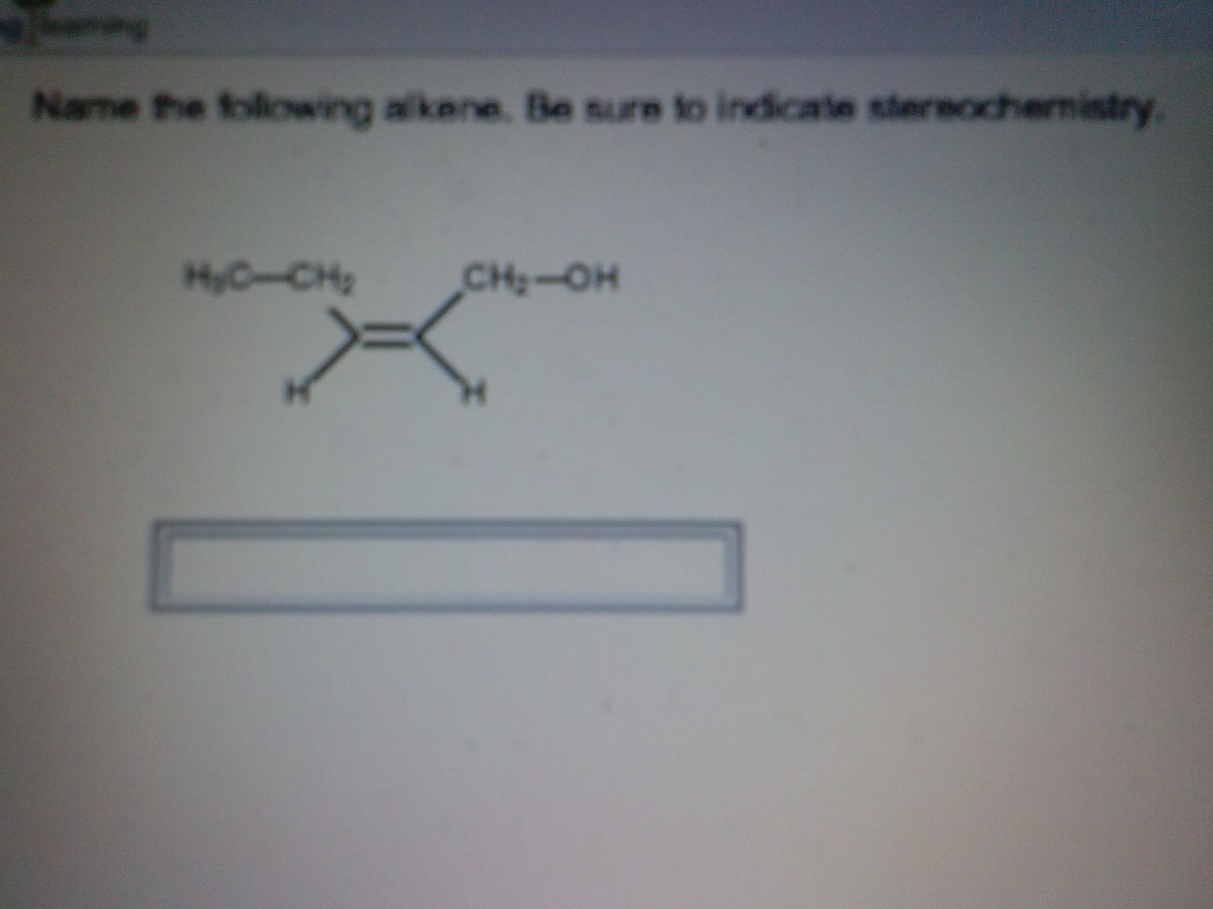 Name the following alkine. Be sure to indicate ste