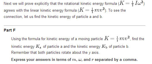 Using The Formula For Kinetic Energy Of A Moving P... | Chegg.com