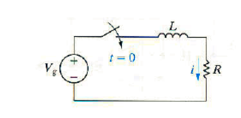 The switch in the circuit as shown below has been