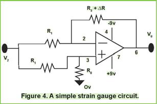 Figure 4. A simple strain guage circuit.