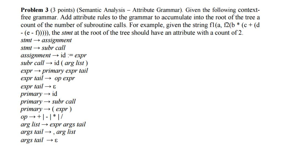 context free grammar examples solved pdf