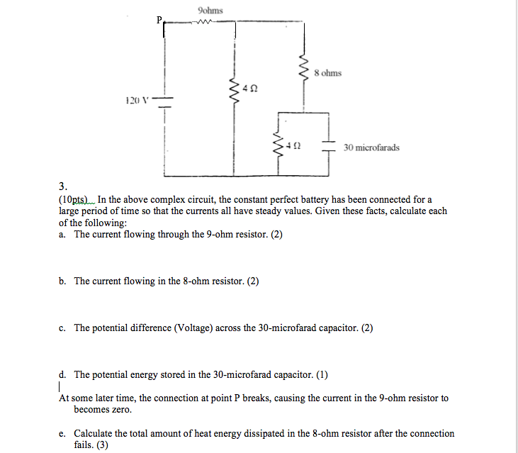 Solved: In The Above Complex Circuit, The Constant Perfect ...