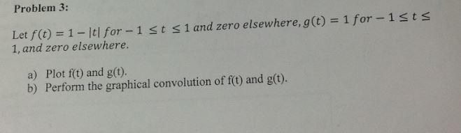 Let f(t) = l - |t| for - 1 t 1 and zero elsewhe