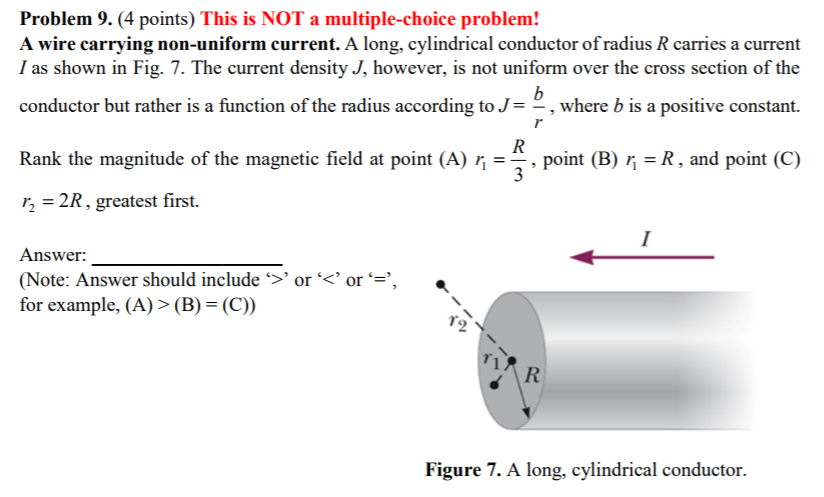 media%2Fba0%2Fba09fe49 9b92 4ab8 b182 fa914b5d19cf%2Fphp8dhSMl problem 9 (4 points) this is not a multiple choic chegg com the diagram shows the cross section of a wire carrying conventional positive current into the plane at aneh.co