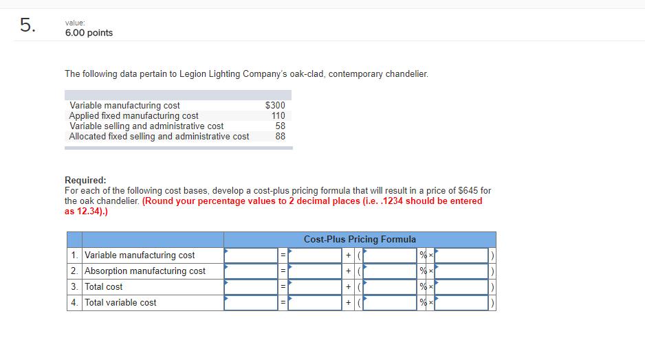 5 6.00 points value The following data pertain to Legion Lighting Companys oak-clad  sc 1 st  Chegg & 5 6.00 Points Value The Following Data Pertain To ... | Chegg.com azcodes.com