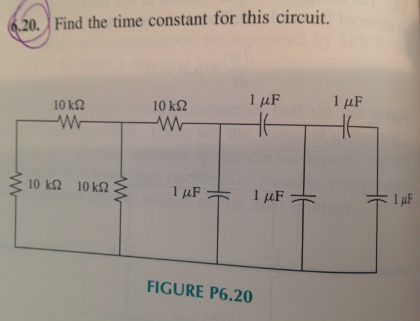 Find the time constant for this circuit.