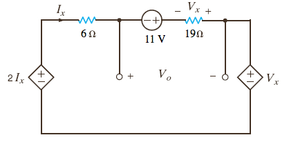 Find V0 in the circuit in the accompanying Figure.