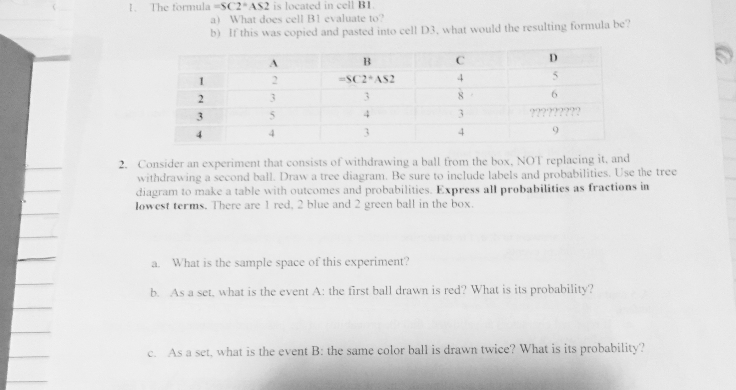 The formulasc2 as2 is located in cell b1 what doe chegg question the formulasc2 as2 is located in cell b1 what does cell b1 evaluate if this was copied and pa pooptronica Image collections