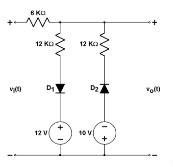 Find voltage transfer characteristics for the circ