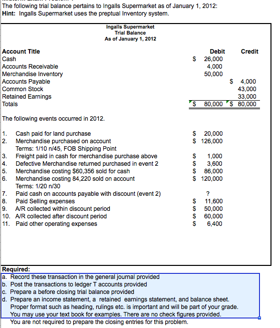 how to get retained earnings on post closing trial balance