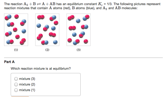 reaction mixtures that contain A atoms (red), B at