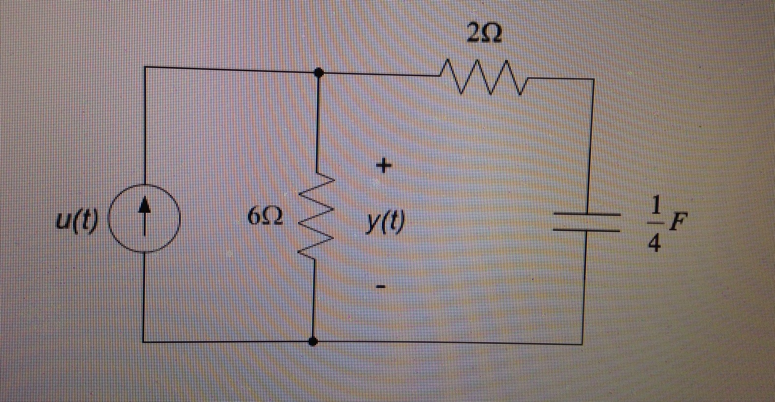 For the circuit shown, the input is the current s