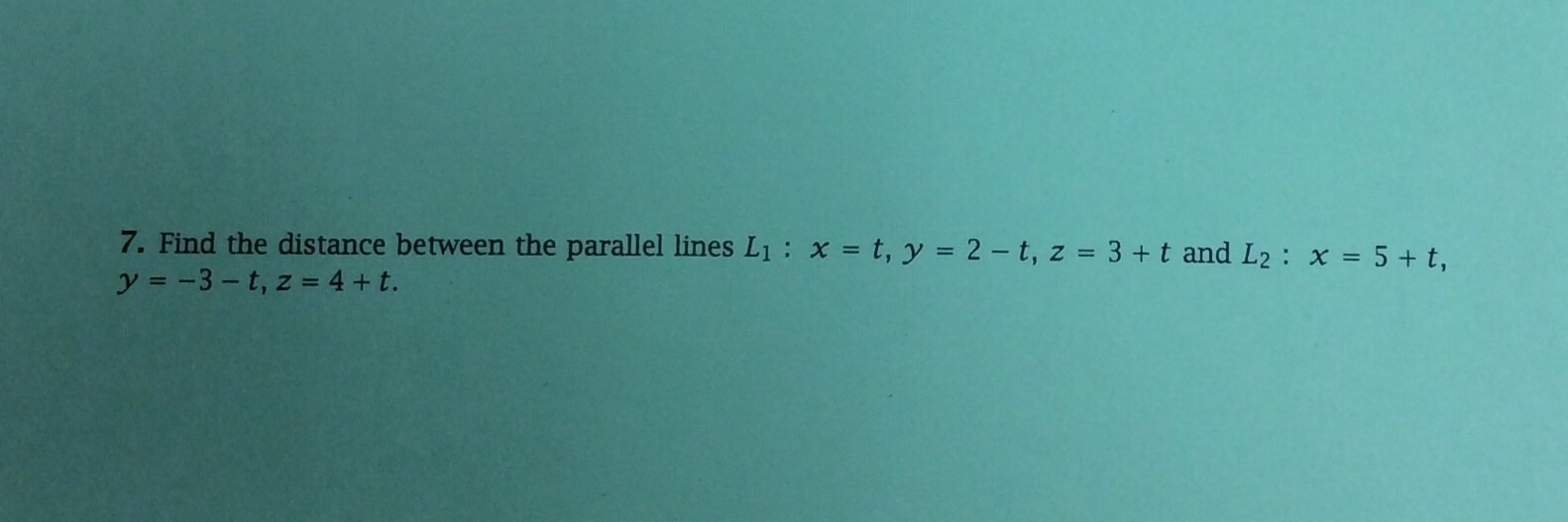 how to find the distance between 2 parallel planes
