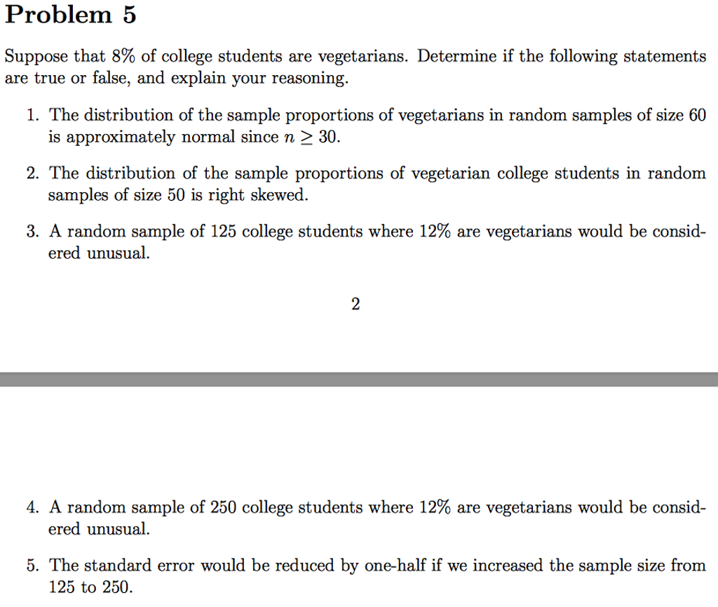 suppose that 8% of college students are vegetarian com question suppose that 8% of college students are vegetarian