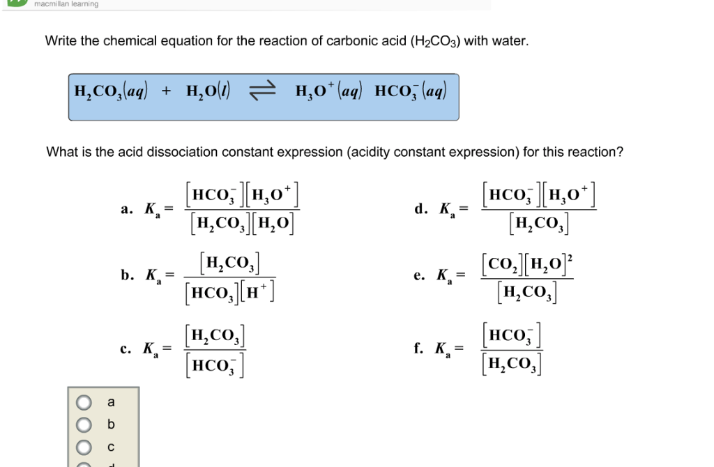 Equation For Carbonic Acid - Jennarocca H2co3 Lewis Structure