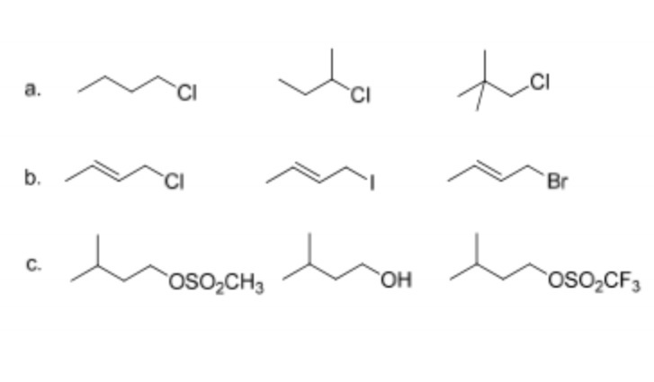 Rank the following molecules in order of increasin