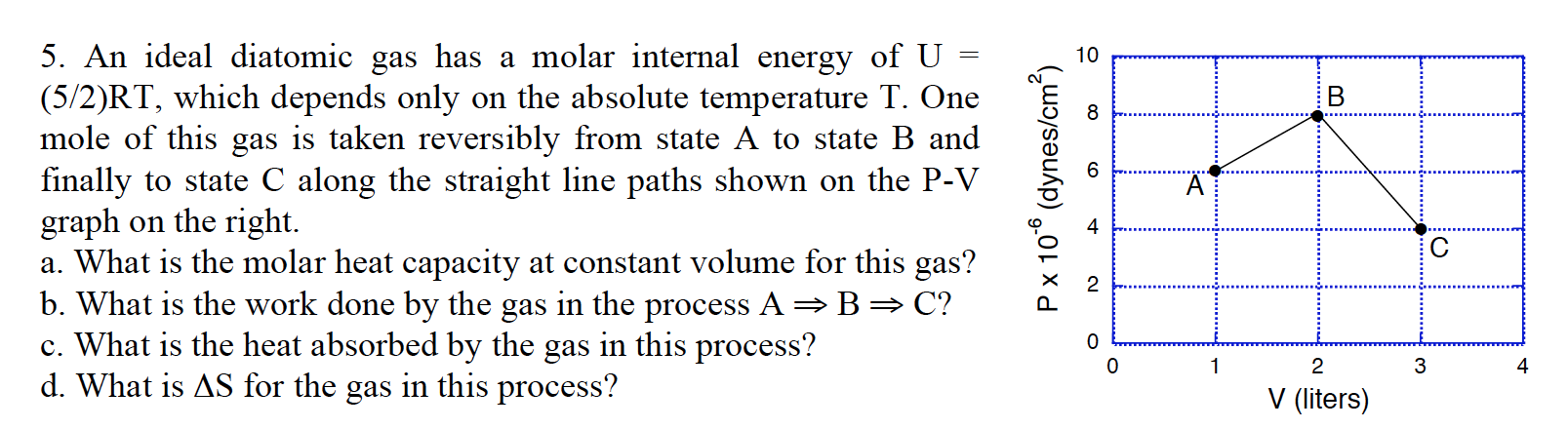 how to find internal energy of a gas