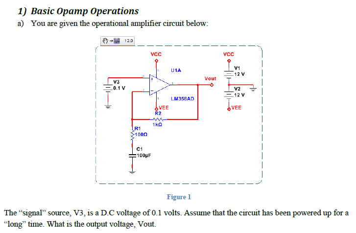 Basic Opamp Operations You are given the operatio