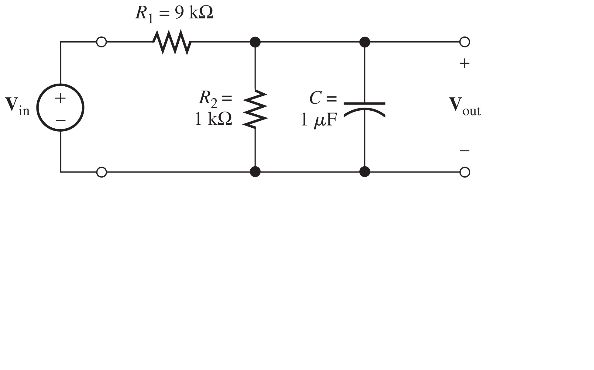 Determine the voltage Vout for the circuit shown i