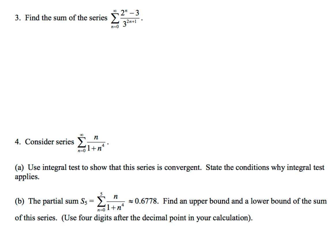 how to find the sum of a series calculus