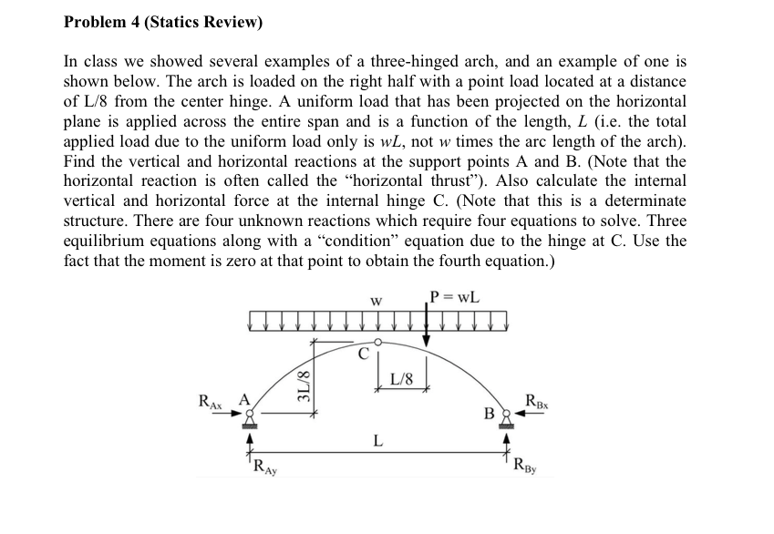 Solved Problem 4 Statics Review In Class We Showed Seve