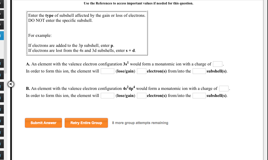 A. An Element With The Valence Electron Configurat... | Chegg.com