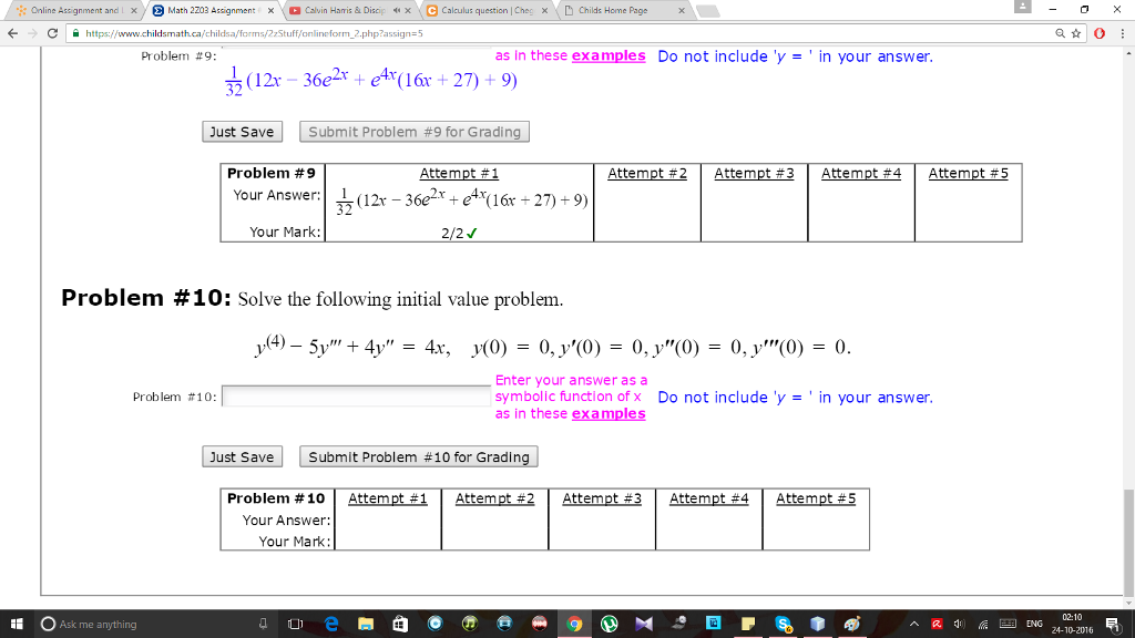 Solved Online Assignment And X Math Z03 Assignment X Calv